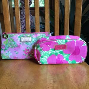 Lilly Pulitzer floral cosmetic bags